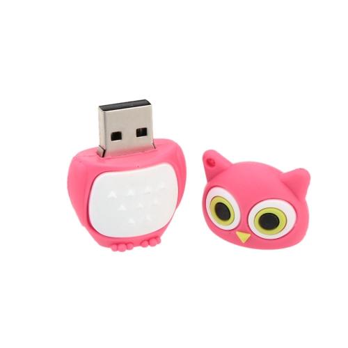 Cute Animal Cartoon Owl Model USB 2.0 Flash Drive High Speed Storage U Disk Fashionable Memory Stick Creative Thumb Pen Drive with Keyhole
