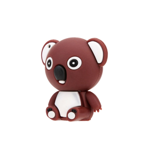 Cute Toy Bear Shaped USB 2.0 Flash Storage Drive Mini Cartoon Animal U Disk Creative Memory Stick Popular Thumb Pen Drive with Keyhole