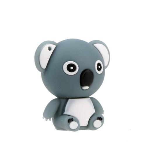 Cute Toy Bear Shaped USB 2.0 Flash Storage Drive Mini Cartoon Animal U Disk Creative Memory Stick Popular Thumb Pen Drive with Keyhole