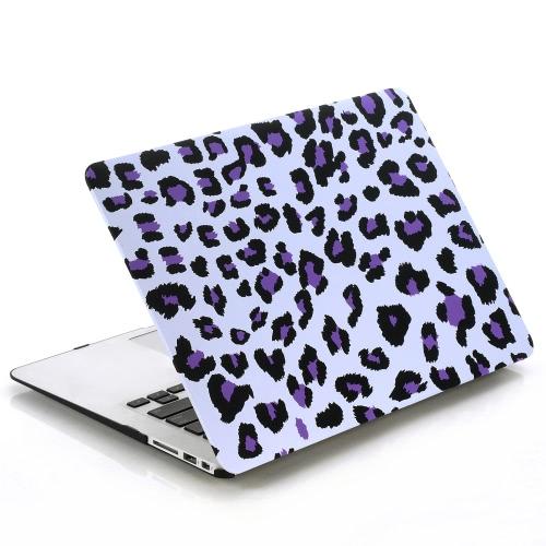 Ультра тонкий легкий вес Белый Фиолетовый леопард печати шаблон ноутбук твердой оболочки случае прикрытие для Apple Macbook Retina 15 15.4 дюймов