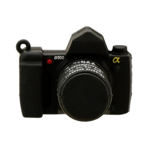 Mini Cartoon Camera Style USB 2.0 Flash Drive High Speed Storage U Disk Fashionable Memory Stick Creative Thumb Pen Drive with Keyhole (Black)