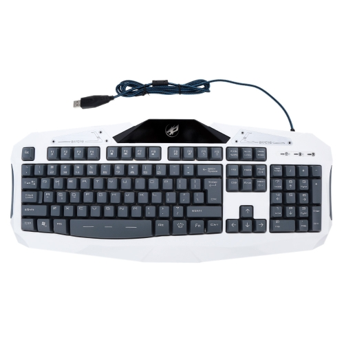 Warwolf Professional Wired USB Water Resistant IP4 Gaming Keyboard Three Switchable Backlights Color for Laptop Desktop