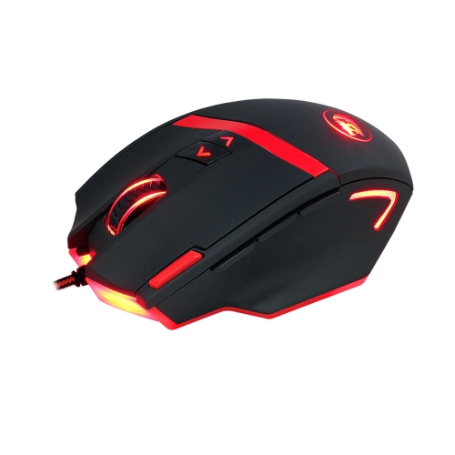 REDRAGON 16400DPI Adjustable Wired Gaming Mouse 9 Programmable Buttons 1 Profile Button 5 Programmable User Profiles Weight Tuning Catridge for PC