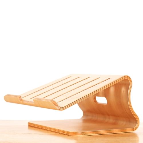 Uniwersalny Elegancki Drewniany Chłodzący Stojak Uchwyt Uchwyt do MacBook Air / Pro Retina Notebook PC Notebook