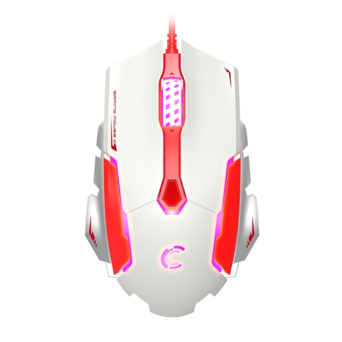 COMANRO 3500DPI Adjustable 6D USB Wired Professional Gaming Mouse 2 Programmable Buttons 4 Switchable Backlights color for PC Laptop Desktop