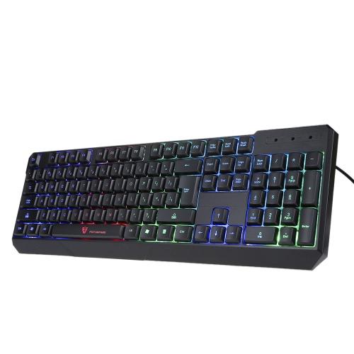 MotoSpeed K70 104 Gaming LED kolorowa podświetlana klawiatura do gier Esport