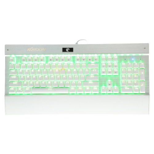 KKmoon Mechanical Professional Gaming Esport Keyboard with Tactile High-speed 104 Keys Suspended Anti-ghosting Blue Switch Fully RGB LED Programmable Backlit USB Wired
