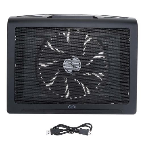 HANJUNG Grip Mesh Ultra Silent Dual USB Ports 17 * 200MM Notebook Laptop Fan Cooling Cooler Pad Heatsink Radiator