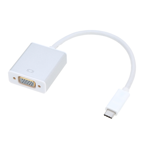 """USB 3.1 USB-C odwracalny typ C męski do VGA żeński adapter do konwertera 1080p dla nowego MacBooka 12 """"Google Chromebook Pixel"""