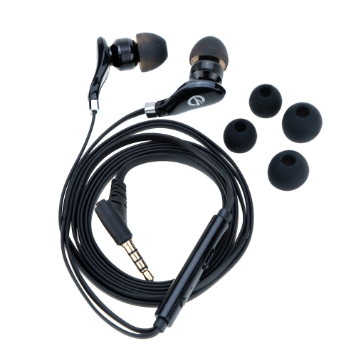 XKDUN In-ear Stereo Metal Earphones Headphones Earbuds Handsfree with Microphone for iPhone Samsung HTC Smartphone MP3/4