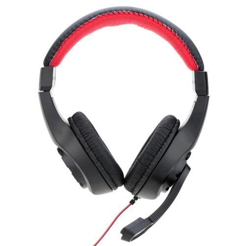 LUPUSS Regulowany nad uchem 3.5mm Aux Esport Game Gaming Słuchawki Słuchawki Słuchawki Niskotonowy Stereo z mikrofonem przewodowy do komputera PC Laptop Notebook Notebook