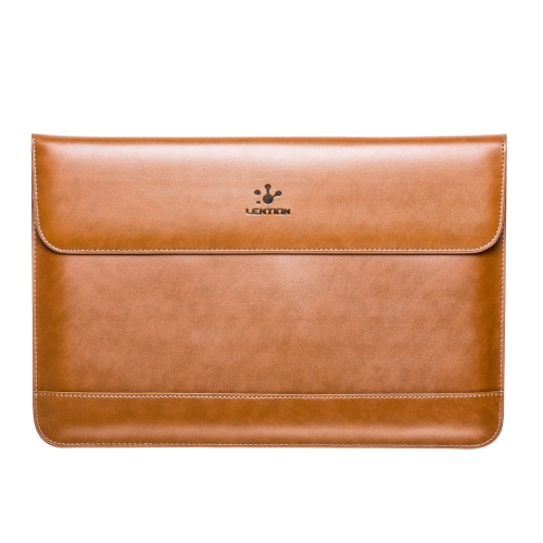 Lention Genuine Leather Flap Sleeve Bag Case Pouch for MacBook Air 11.6