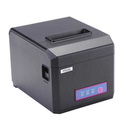 Hoin High-speed 80mm & 58mm POS Dot Receipt Paper Barcode Thermal Printer USB+Bluetooth 2.0 300mm/s for Supermarket Store Bank Restaurant Bar