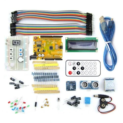 Mikrowieża UNO R3 BreadBoard Advance Kit z czujnikami / moduł wyświetlacza LCD / instrukcja dla Arduino