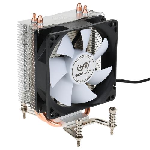 SOPLAY CPU Cooler 2 Heatpipes 3pin 9.2cm Wentylator Komputer PC dla AMD Socket 754 939 940 FX All Series CPU Cooling Fan chłodnicy