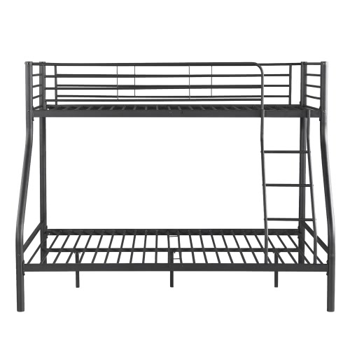 iKayaa Modern Single-Over-Double Metal Bunk Bed Frame With Ladder