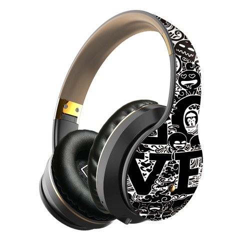 EL-B1 Fone de ouvido sem fio BT dobrável fone de ouvido estéreo portátil Graffiti Fone de ouvido musical para jogos esportivos para telefone / laptop / PC