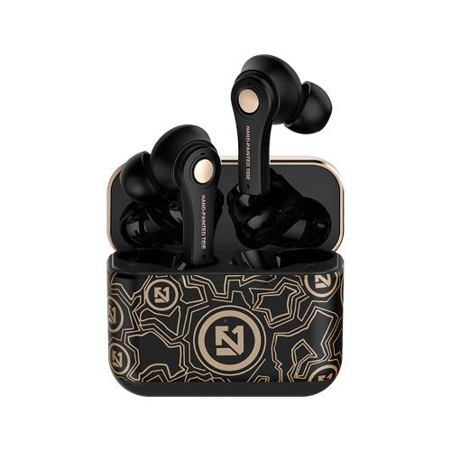 TS-100 Wireless BT Earphone Mini Portable Half in-ear Stereo Headset for Vehicle/Sport Phone/Laptop/Tablet Gold