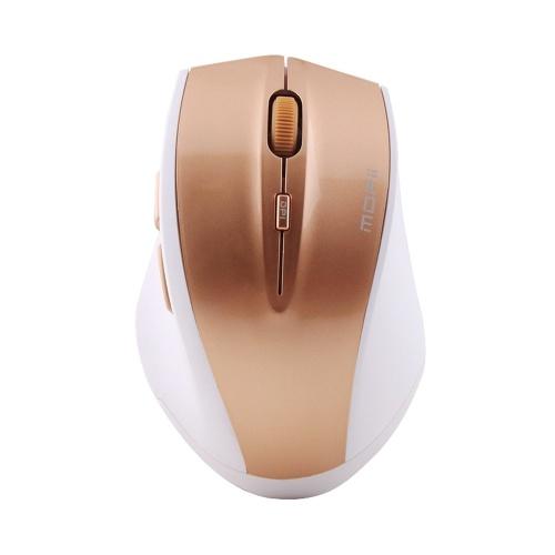 Souris sans fil Mofii G52 2.4GHz souris ergonomique souris sourdine portable Plug and Play souris à économie d'énergie pour le bureau à domicile or