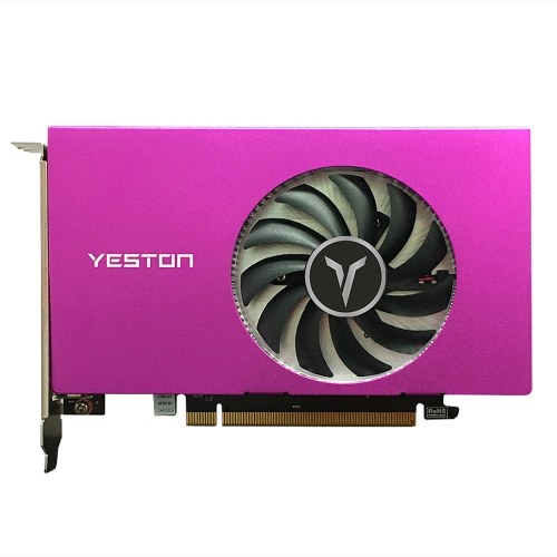 Yeston RX550-2G 4HDMI 4-Screen Graphics Card Support Split Screen 10bit Color Depth HDR 2G/128bit/GDDR5 with 4 HDMI Ports