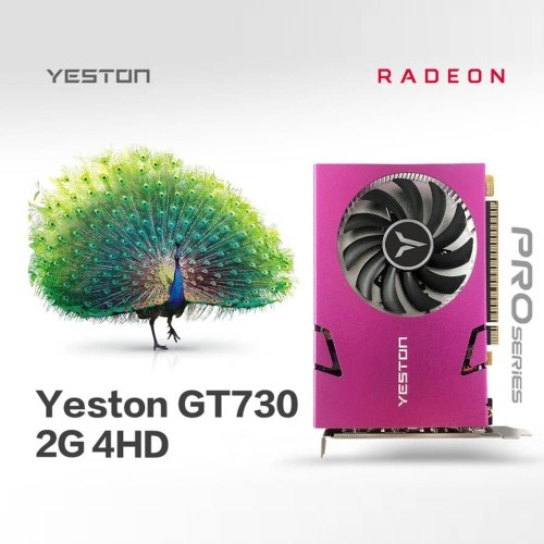 Yeston GT730-2G 4HD 4-Screen Graphics Card 2G/128bit/DDR3 Memory Support Split Screen 10bit Color Depth with 4 HD Ports