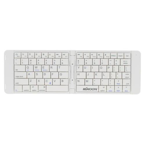 KKmoon Portable Mini Ultra Slim Thin Foldable Folding Bluetooth Wireless Keyboard for iPhone 6s/iPad Pro/MacBook Mobile Phone Tablet PC