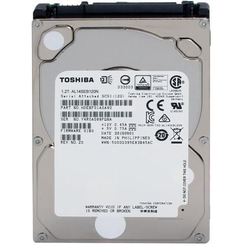 TOSHIBA 1.2TB Przedsiębiorstwo Pojemność HDD Wewnętrzny dysk twardy 10500 RPM 2.5 cala AL14SEB120N SAS3.0 12GB / s 128 MB Cache