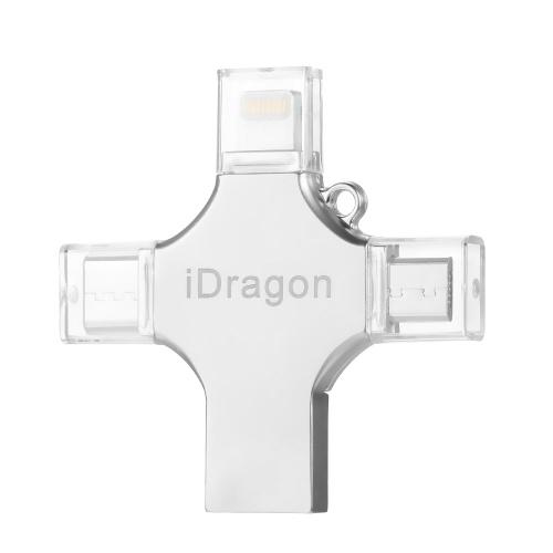 USB2.0 OTG 4-в-1 Type-C Thumb Drive флеш-накопитель Memory Stick для Android / iPhone / ПК