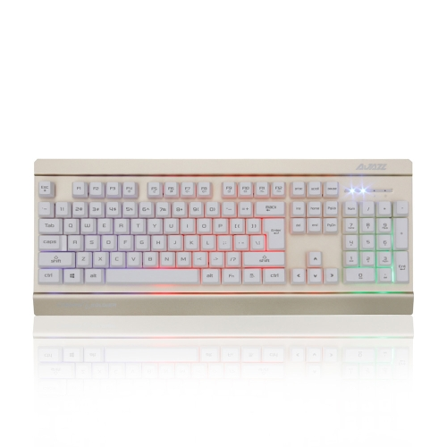 Ajazz AK27 Com Fio Teclado Para Jogos De Membrana 104 Teclas Completas Anti-fantasma Com Backlight ColoRful Plug And Play All-chave Anti-ghosting