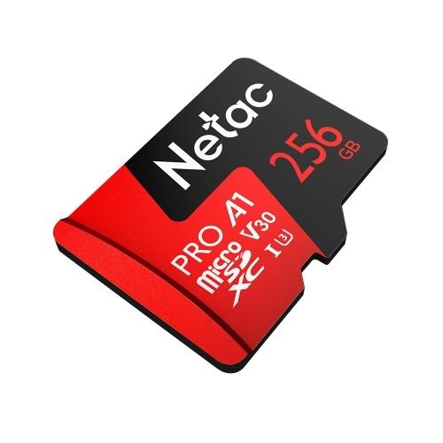 Netac 256 GB Pro Micro SDXC TF Cartão de Memória Armazenamento De Dados V30 / UHS-I U3 Alta Velocidade Até 100 MB / s