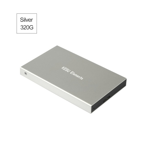 Portable External Hard Drive USB 3.0 120G.160G.250G.320G.500G HDD External HD Hard Disk for PC Silvery&320G