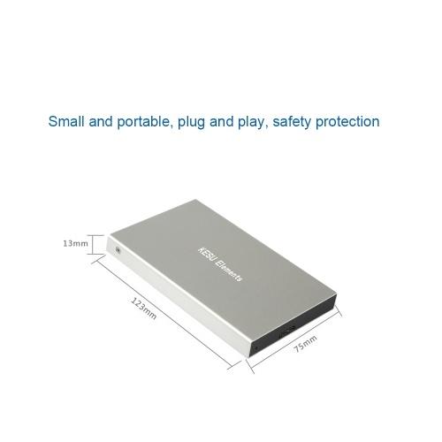 Portable External Hard Drive USB 3.0 120G.160G.250G.320G.500G HDD External HD Hard Disk for PC Silvery&500G