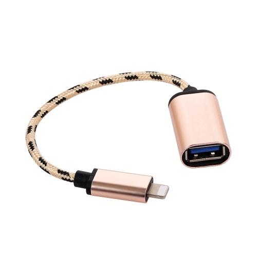 Relâmpago OTG cabo relâmpago macho para cabo de transferência de dados adaptador USB3.0 para iPhone (dourado)