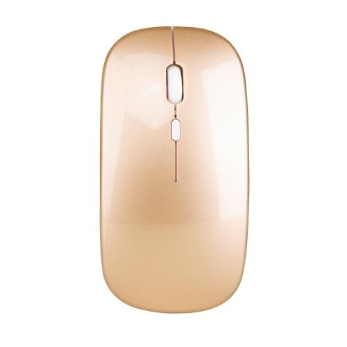 HXSJ Беспроводная мышь 2.4G Ультратонкая бесшумная мышь Портативная и гладкая мышка перезаряжаемая мышь 10м / 33 фута с беспроводной передачей фото