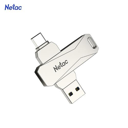 Netac U782C 128 GB Typ C + USB-Doppelschnittstelle Flash-Laufwerk Plug & Play-Speichererweiterung für Mobiltelefone U Disk Silver