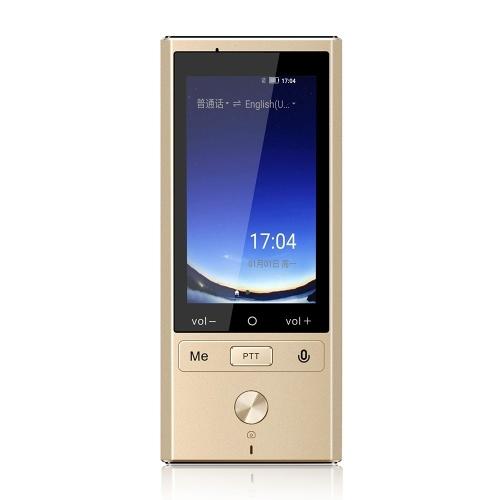 Supporto traduttore vocale intelligente portatile Traduzione online Traduzione offline Traduzione vocale foto con slot per scheda SIM Oro