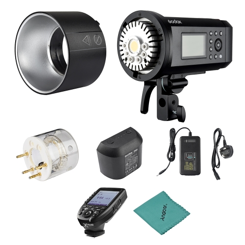 Godox AD600Pro 600Ws TTL GN87 1/8000s HSS Outdoor Flash Strobe Light + 28.8V/2600mAh Rechargeable Lithium Battery + Xpro-N Flash Trigger for Nikon Series Camera C-D0631UK