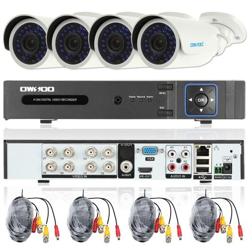 OWSOO 8CH Channel Full AHD 1080N / 720P 1500TVL CCTV Surveillance DVR Security System