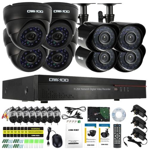 OWSOO 16CH Full CIF 800TVL CCTV Surveillance DVR Security System