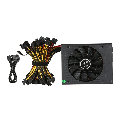 1650W ATX12V V2.31 ETH Coin Mining Miner Power Supply Active PFC Power Supply