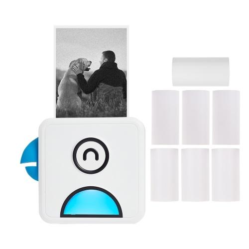 Карманный термопринтер Poooli L1 с разрешением 200 точек на дюйм Портативный BT для беспроводной чековой этикетки для этикеток с рулоном термобумаги, совместимый со смартфоном Android iOS