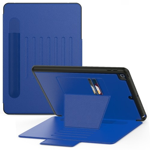 Замена чехла для планшета iPad 7-го поколения 10,2-дюймовый защитный чехол для всего тела с регулируемым углом наклона Синий