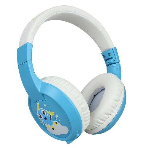 BT fone de ouvido infantil BT 5.0 fone de ouvido infantil microfone HD embutido BT fone de ouvido com suporte para cartão TF para crianças estudo / entretenimento azul