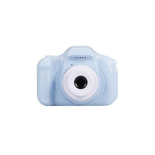 X2 Mini Kids Camera 2 inch HD Color Display Rechargable Mini Camera Video Camera Lovely Camera with 32GB Memory Card Blue