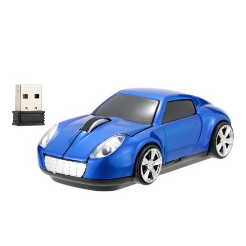 Wireless 2,4 GHz de carro de corrida em forma de 3D de ratos/Mouse óptico USB 3 botões 1000 DPI/CPI para PC Laptop Desktop