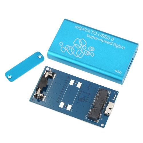 SSD mSATA to USB 3.0 Hard Drive Enclosure Adapter Case Support UASP Super Speed 6Gb-s