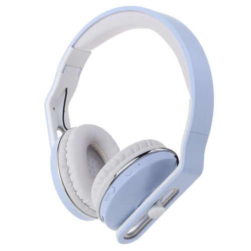 Fashion Stereo Foldable Over-ear Bluetooth Headphone Headset with Mic 3.5mm Jack USB Interface High Sound Quality for iPhone Samsung Smartphones PC Laptop