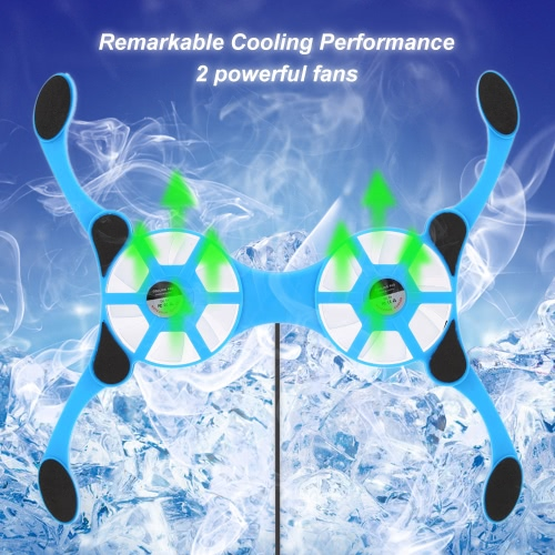 mini portable folding foldable usb dual fan cooler