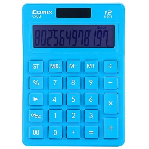 Comix C-6S função padrão colorido do Desktop Calculator 12 dígitos solar e bateria Dual Power para a escola Home Office