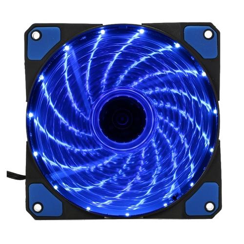 120mm 15 luzes 4 cores LED Silent PC Computador Chassis Ventilador Cooler Cooling Quiet Dissipador de calor DC 12V